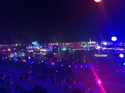 All of EDC from the top of the stadium